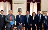 PCCI'S PRESIDENT, MR V. KORKIDIS,  AND PCT'S COMMERCIAL MANAGER, MR. T. VAMVAKIDIS,  MEET WITH DELEGATION FROM TIANJIN PORT (GROUP) CO., LTD.